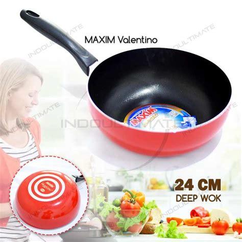 Maxim Valentino Wok 24 teflon maxim anti lengket wajan anti lengket panci