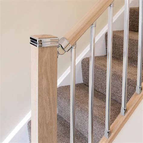 chrome banisters solution chrome handrail connector jackson woodturners