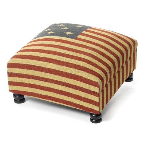 flag ottoman patriotic rustic kilim american flag coffee table ottoman