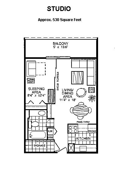 bachelor apartment floor plan towers and south