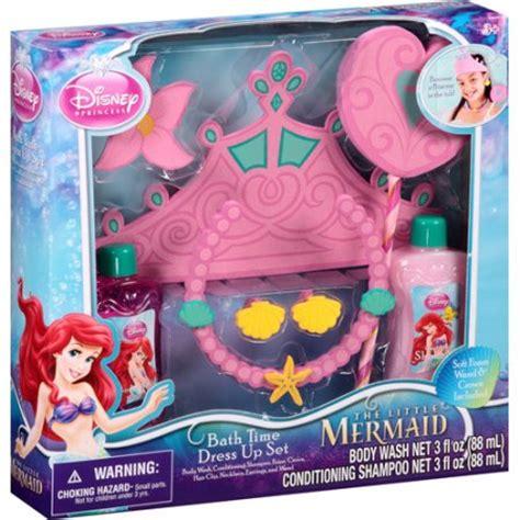 the little mermaid bathroom set disney princess the little mermaid bath time dress up set 7 pc walmart com