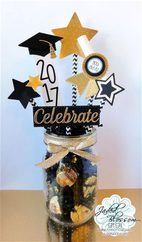 the cricut bug graduation centerpiece
