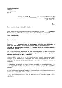 Exemple De Lettre De Demande De Document Gratuit Exemple Gratuit De Lettre Demande Remise Gracieuse Taxe Habitation
