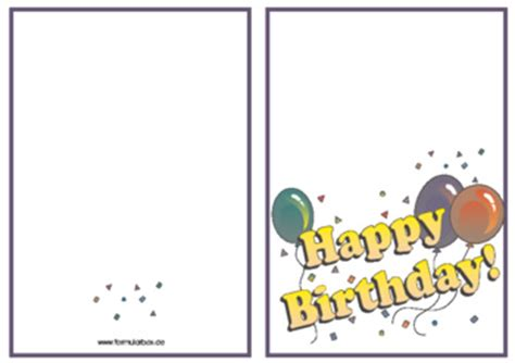 Word Vorlage Happy Birthday Gru 223 Karte Geburtstagskarte Happy Birthday Vorlagen Und