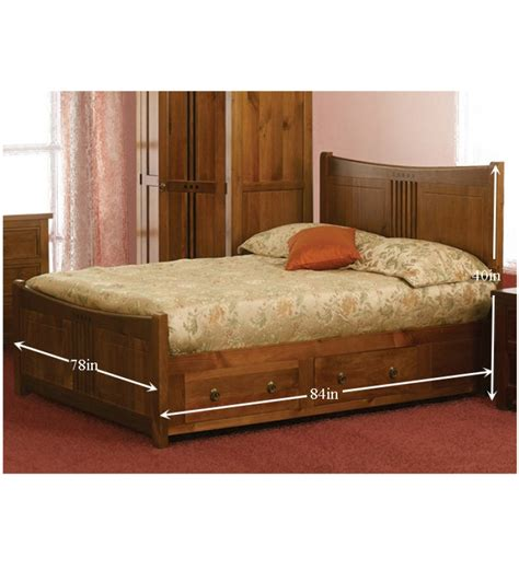 olida elegant king size bed with storage by mudramark