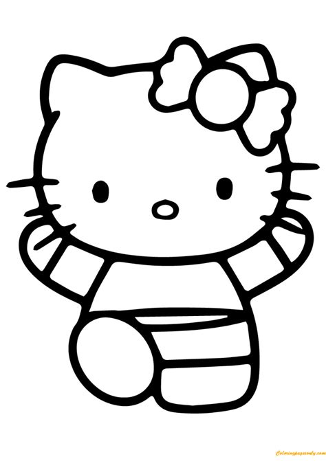 hello kitty gymnastics coloring pages hello kitty doing gymnastics coloring page free coloring