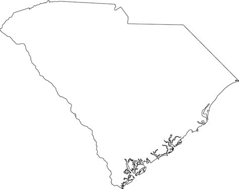 blank map south carolina south carolina outline map