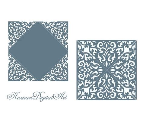 template border card cricut 91 best images about laser cut wedding invitations on