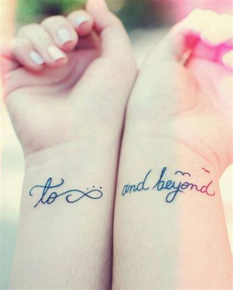 to infinity and beyond couple tattoo 20 creative to infinity and beyond tattoos hative