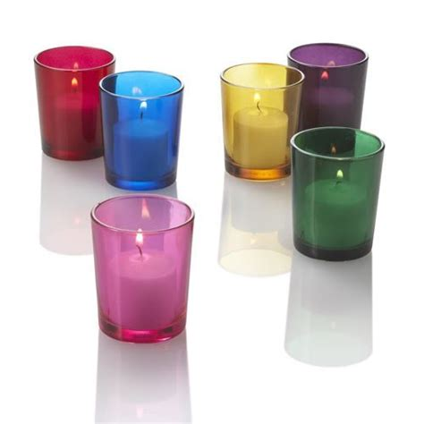Coloured Candle Holders Colored Votive Candle Holders Set Of 12 Green From