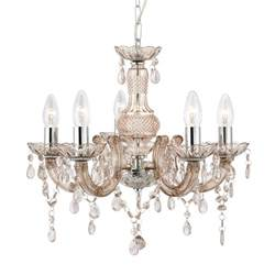 the chandelier therese chandelier ceiling light in chagne mink