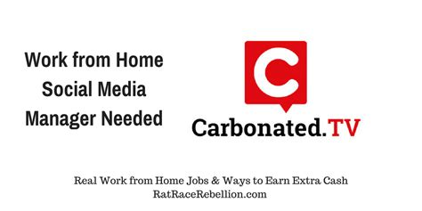 work from home social media manager needed real work