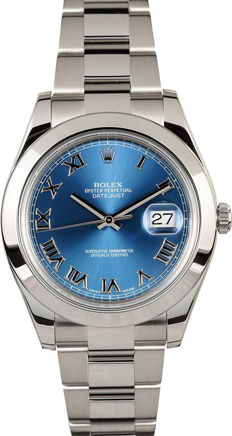 Rolex Oyster Perpetual Datejust 41 116300 rolex datejust 41mm 116300 blue