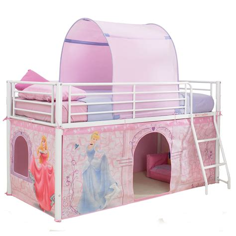 disney bed disney princess mid sleeper cabin bed tent new 100