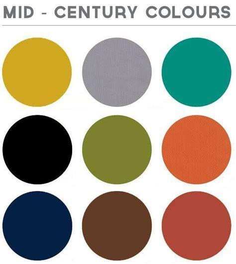 modern color combinations mid century colour palette colour board pinterest