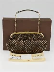 louis vuitton limited edition brown monogram satin