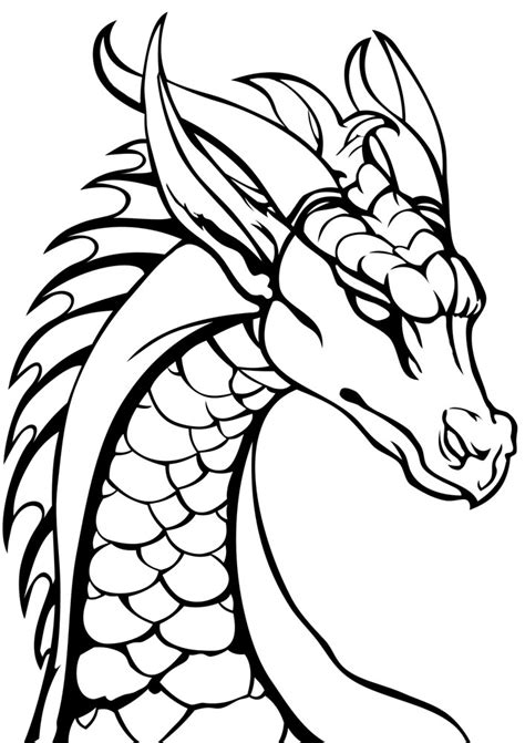 dragon head colouring page rooftop post printables