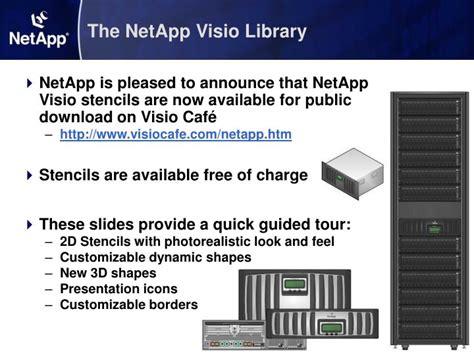 netapp visio stencils ppt guided tour netapp visio library powerpoint