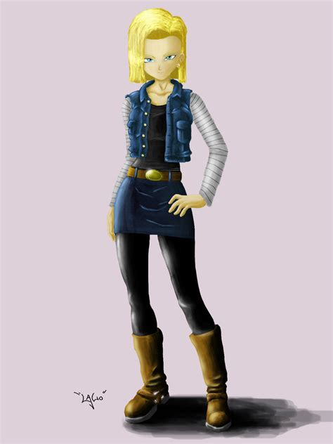 painting android android 18 by lal0 90 on deviantart