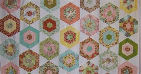 Quilt Curios by Cape Pincushion Curio Hexagon Quilt Top Finished
