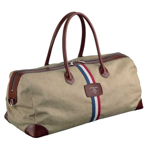 Travel Bag st dupont iconic beige cosy canvas travel bag