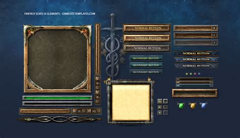 Design Game Gui | fantasy game gui game ui design freelancer antonw