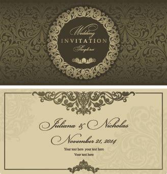 Wedding Card Design Cdr Format by Wedding Invitation Vector Free Vector 2 652 Free