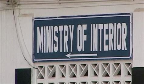 Interior Ministry by Interior Ministry Approves Request For Warrants Of