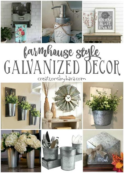 Farmhouse Style Galvanized Decor   Creations by Kara