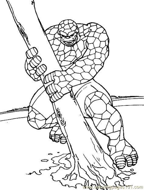 free coloring pages of fantastic four