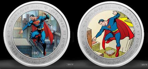 Koin Coin Set Canada Superman Anniversary superman 75th anniversary coins from the canadian mint it s a bird it s a coin technabob