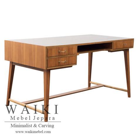 Meja Kantor Solid george desk meja kerja minimalis modern jati waiki