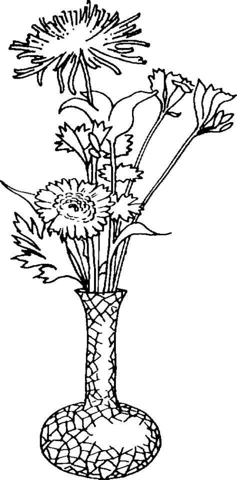 Vase Clipart Black And White by Black And White Flower Picture Cliparts Co