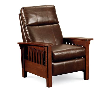 mission style leather recliner mission high leg recliner recliners lane furniture
