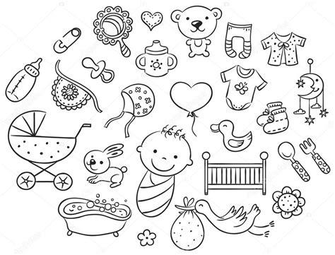 imagenes en blanco y negro para bebes conjunto de beb 233 de dibujos animados contorno de blanco y