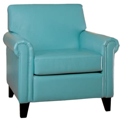 Teal Blue Chair by Canton Teal Blue Leather Club Chair Furniture Living