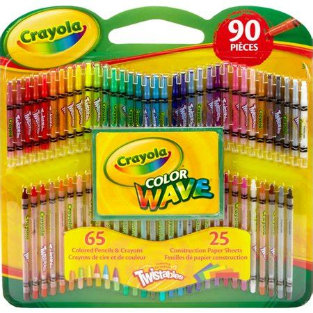 crayola twistable colored pencils crayola twistables color wave colored pencils and crayons
