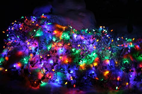 christmas lights in snow ruth e hendricks photography