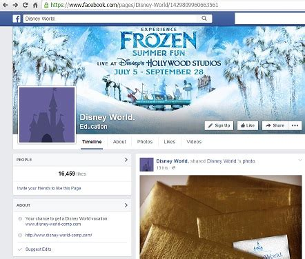 facebook disney promotion scam quot world vacation for 5 people with 1000 visa gift card quot - 1000 Visa Gift Card For Nothing