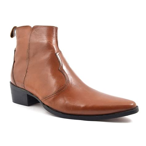 shop pointed cuban heel boot gucinari