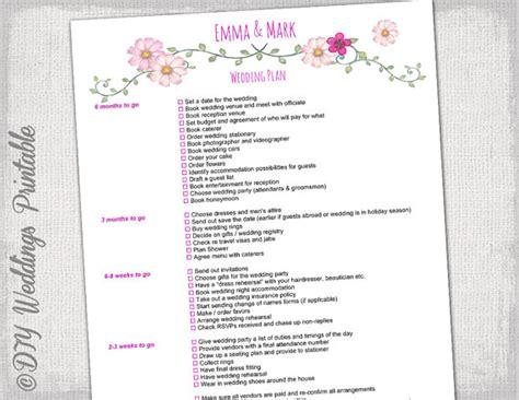 Wedding Checklist Australia Pdf by Wedding Checklist To Do List Wedding Planner Timeline