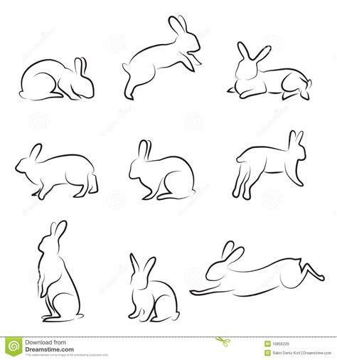 rabbit drawing set royalty free stock images image 10856229