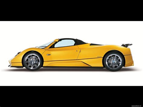 pagani zonda side view yellow pagani zonda roadster on a white background a side