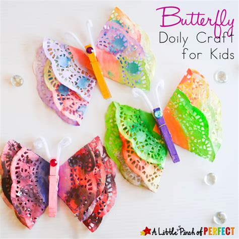 craft projects for toddlers beautiful painted butterfly doily craft for