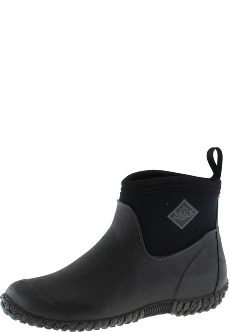 mens ankle rubber boots muckster 2 ankle black ankle rubber boots by the muck boot