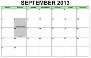 Calendar September 2013 Calendar 2013 September