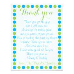 thank you cards from baby shower baby shower thank you cards zazzle