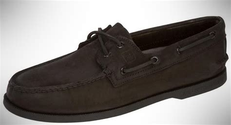 sperry bahama 2 eye black monogram boat shoes that are