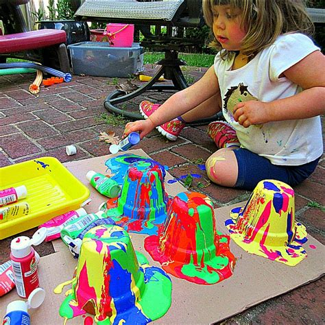 flower pot crafts squeezy oozy painted flower pot crafts for
