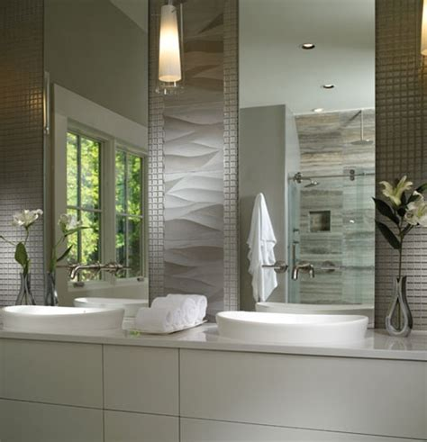 wavy bathroom tile elise semi recessed sinks mirror size and the wavy tiles